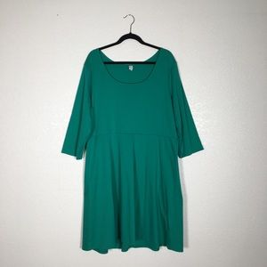 Old Navy Plus Size Green Jersey Dress